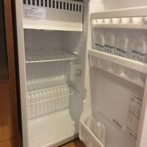 各部屋の冷蔵庫は「空」です