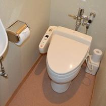 客室のトイレは洗浄機付きトイレです