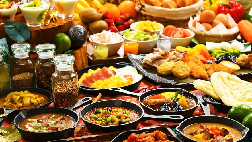 【朝食ビッフェ/料理イメージ】 彩り豊かな県産食材を活かしたこだわりビッフェ♪岩手の朝を味わう♪