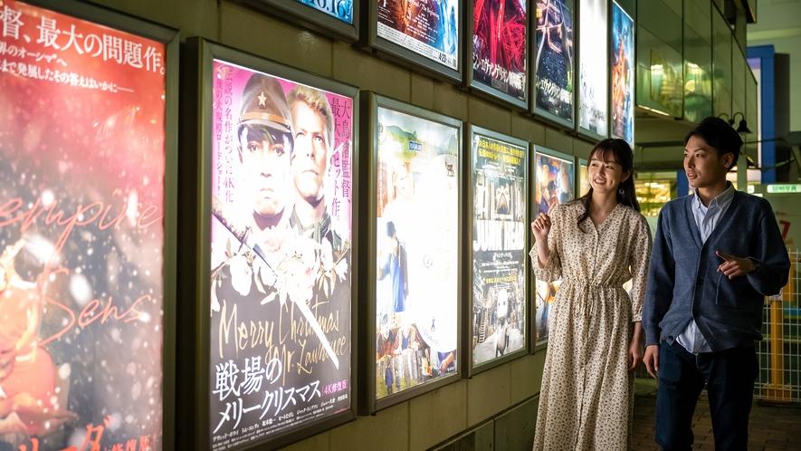 【映画館通り】 昔ながらの映画館のあるノスタルジックな空間。盛岡にお越しの際にはお立ち寄り下さい。