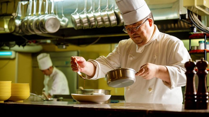 【本格シェフの創作料理】 盛岡随一の本格シェフ。多彩な料理をご堪能ください。