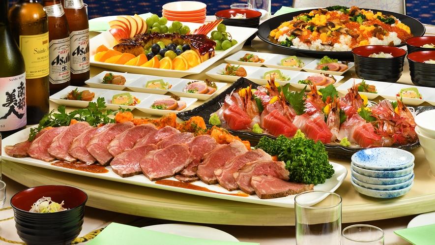 【夕食ビッフェ】 お食事イメージ。※ご提供しない期間もございます。