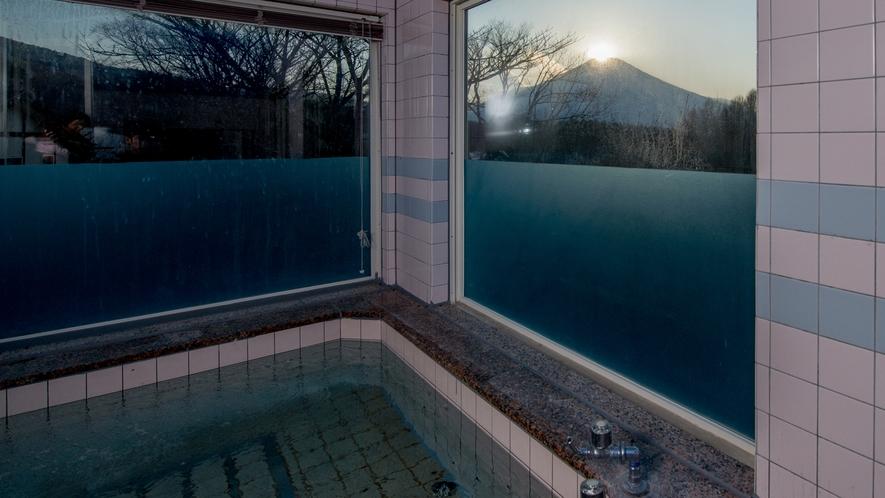展望風呂夕景