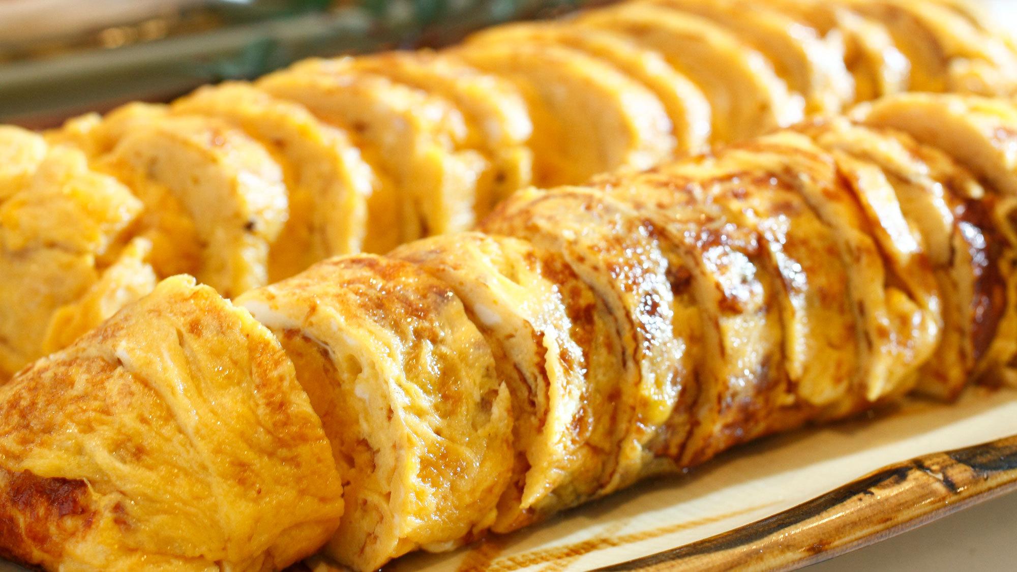 【朝食一例】卵焼きは何度もおかわりしたくなるほどの美味しさで大好評♪