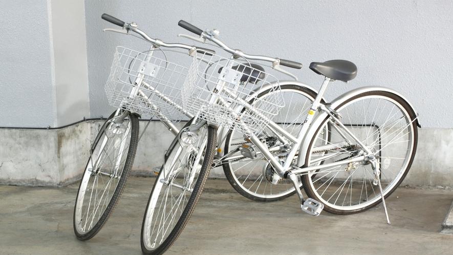 自転車の貸し出しも行っています。買い物や小山散策にもご利用ください。