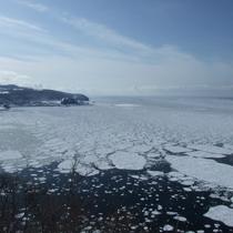 【風景】流氷が来るとオホーツクの海の景色が一変します。