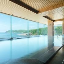 【展望大浴場「大海原」】夏・緑かがやく知床の入浴