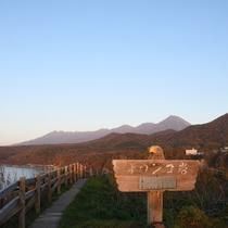 【観光】オロンコ岩の夕暮れ時です。左を向けば、きれいな夕焼けが見れるかも?