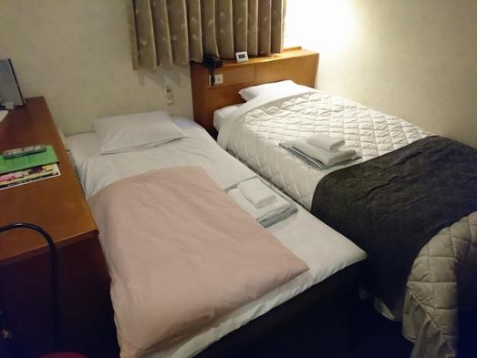 シングルルーム二人宿泊プラン♪JR岡山駅徒歩5分♪人気のシモンズ社製ベッドで快適に