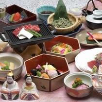 【料理】3月のお夕食は雛会席