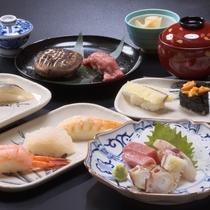 【料理】花兆庵一階の【すし処 すし兆】では本格すし会席を楽しむこともできます