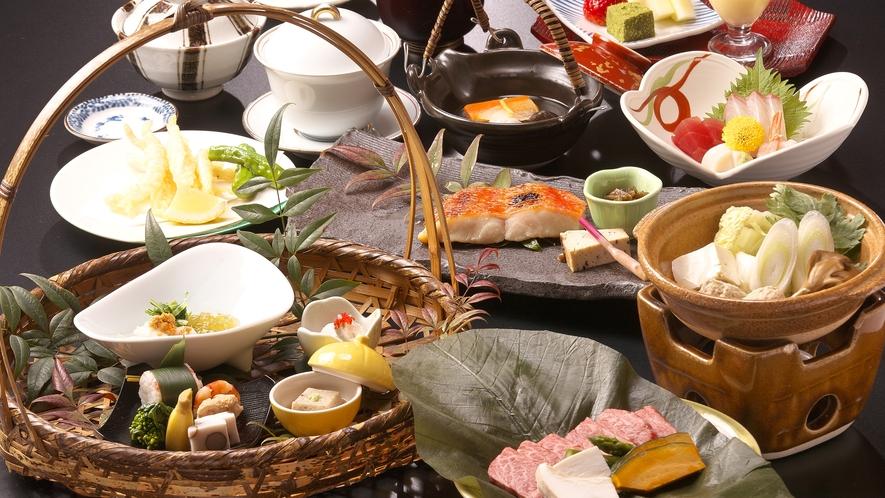 ■うまいもの膳■ 飛騨に伝わる郷土料理の数々を籠盛りでどうぞ!