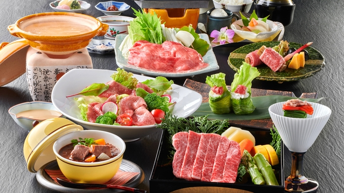 """【飛騨牛づくし】<A4飛騨牛>を「座付」から「焜炉」まで。""""7種の調理法""""で贅沢に♪"""