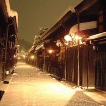 【周辺】雪の古い町並み〜寒いけど情緒があります。散策してみて〜