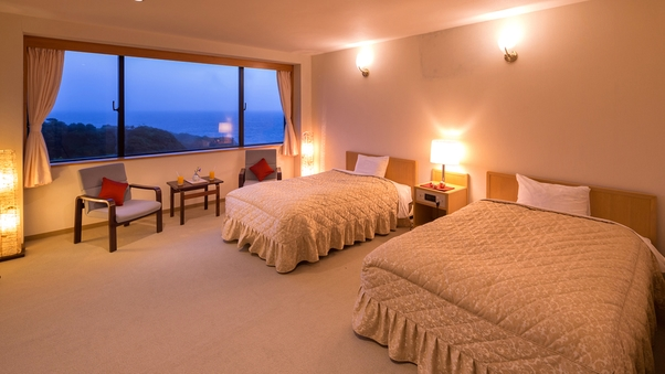 ■海側DX和洋室■ 限定1室〔海側ツインベッド+和室8畳〕