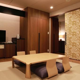 【和洋室】ツイン+琉球畳風和室(ユニットバス付き)