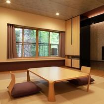 *お部屋一例/リニューアルした和室は、畳を琉球調にしシックなデザインへ
