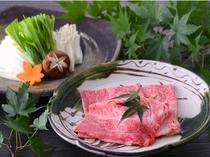 夕食鍋例(霧降高原牛しゃぶしゃぶ)