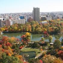 上空からの中島公園