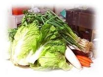 大黒屋のお食事は野菜たっぷりです