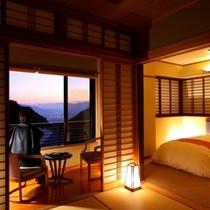 特別室からの夕景