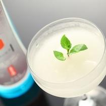 山梨の地酒「春鶯囀(しゅんのうてん)」でつくった当館オリジナル『酒ソルベ』