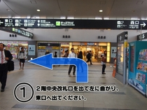 岡山駅中央改札口