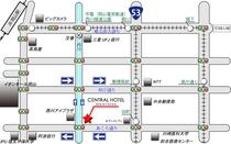 岡山駅からの簡易地図