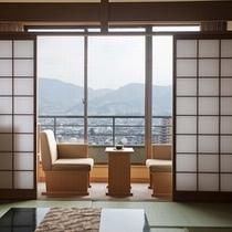 高層階の「開花亭」客室イメージ