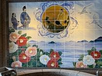 砥部焼のタイル壁画