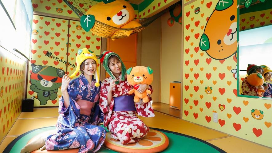 愛媛のかわいい「みきゃん&こみきゃん」とお泊り♪インスタ映え必至な、可愛いキャラクターでいっぱい!