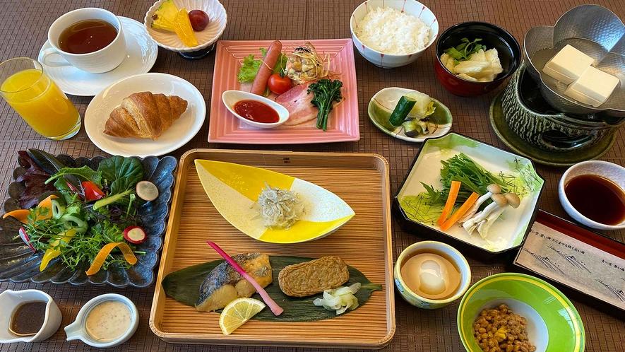 <朝食 和定食>じゃこ天にポンジュース、松山あげのお味噌汁♪愛媛の食材がたっぷり楽しめる♪