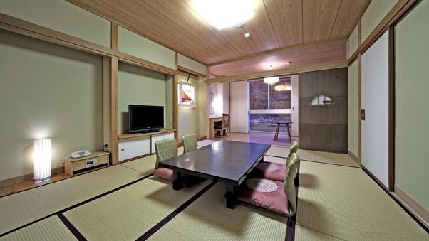 ぎふモダン和室・川側禁煙(10畳+広縁4畳相当・45平米)