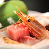 美味少量「雅プラン」厳選した上質な食材を使った特別会席 こちらは大トロ、ボタン海老など旬のお造り