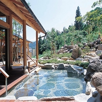 【山の湯】眺めの良い露天風呂や変わった蒸し風呂、洞窟風呂など10種類のお風呂