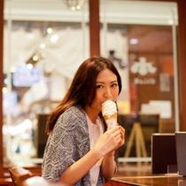 ソフトクリーム美味しいな