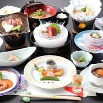 新潟の厳選食材を使った会席料理一例