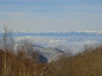 北アルプスと雲海