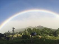 高天ヶ原に掛かる虹