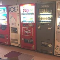 自動販売機と氷