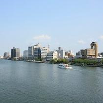 大橋川の景色