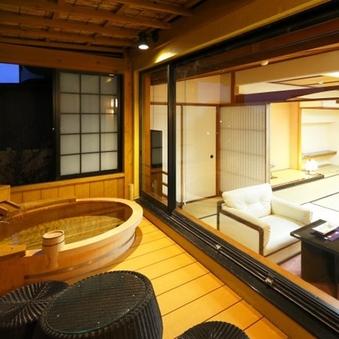 露天付特別室【桔梗-ききょう】天然温泉100%かけ流し