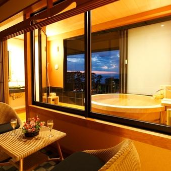 2名様用〜禁煙◆<6F海側>天然温泉100%掛流し露天付客室