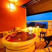 【客室】露天付客室 客室専用露天一例