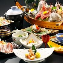 【料理】季節の会席一例 お得プラン集合