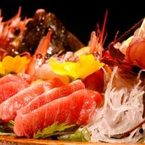 【料理】舟盛一例 マグロ寄り