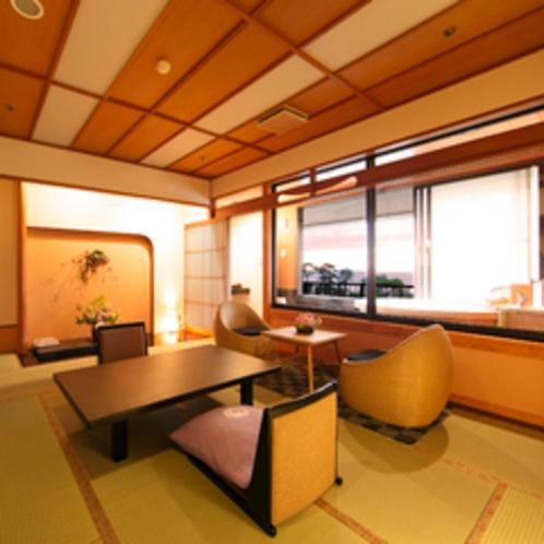 【603号室】禁煙指定露天風呂付客室と眺望