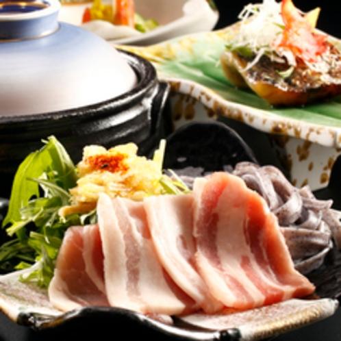 【料理】季節の会席一例 集合寄り ハリハリ鍋
