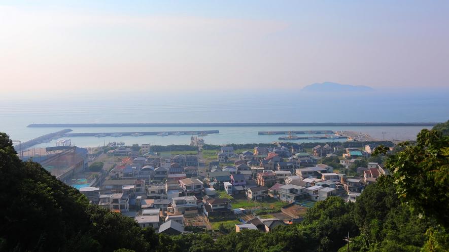 【有田みかん街道からの景色】