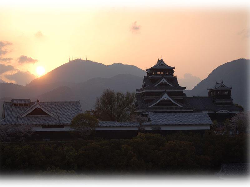 熊本城−夕暮れ(1)
